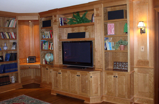 Bookshelves and entertainment centers by H&B Woodworking, Inc. - Plainville, CT