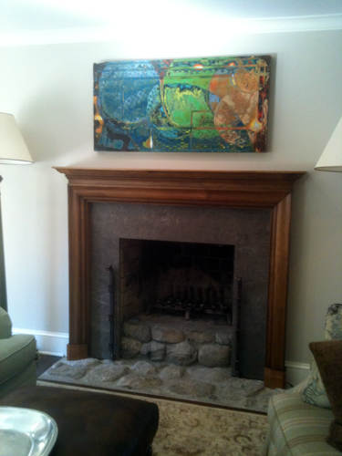 Beautiful wooden fireplace mantles designed, fabricated and installed by H&B Woodworking, Inc.
