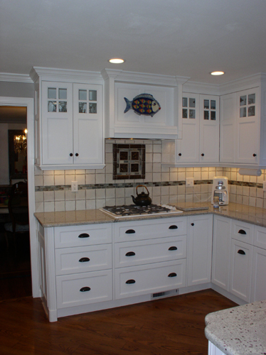 One of many beautiful kitchens designed, fabricated and installed by H&B Woodworking - Plainville, CT